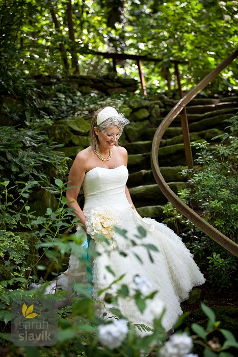 Bride at Dunaway Gardens