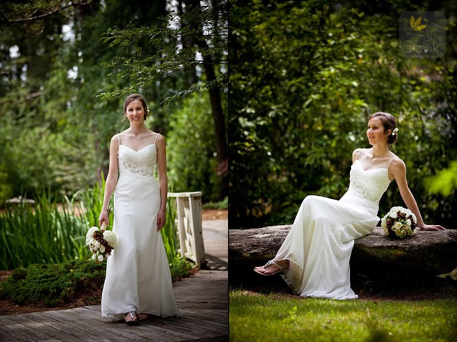 Bride at Vines Botanical Gardens