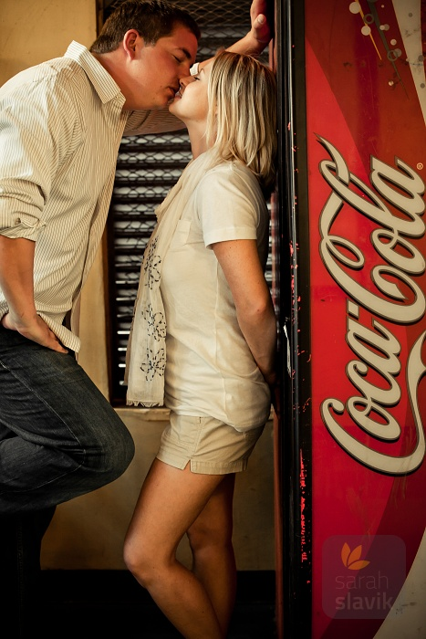 Couple with a Vending Machine
