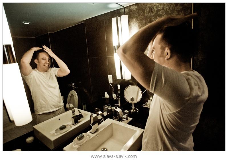 Groom Gelling Hair