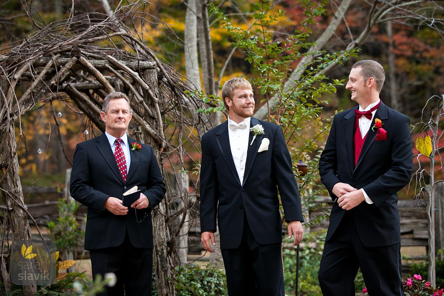 Groom's anticipation