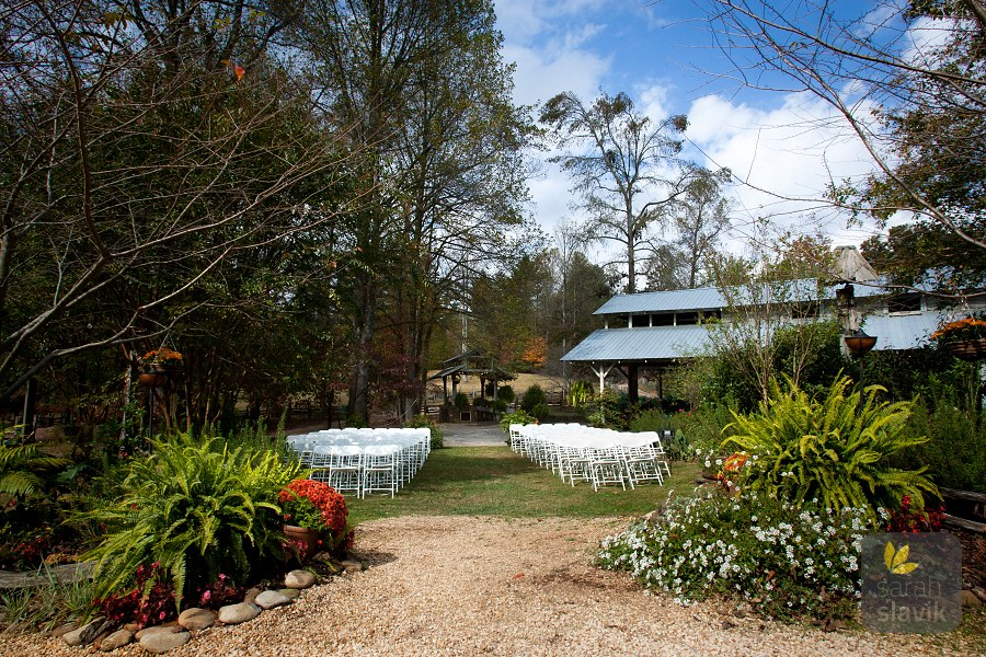 Outdoor ceremony place