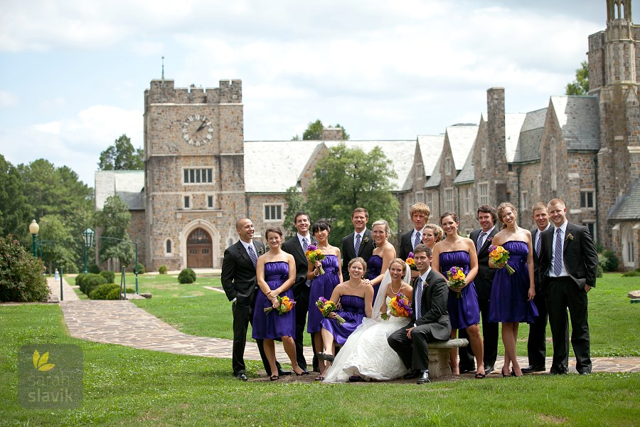 Berry College wedding party