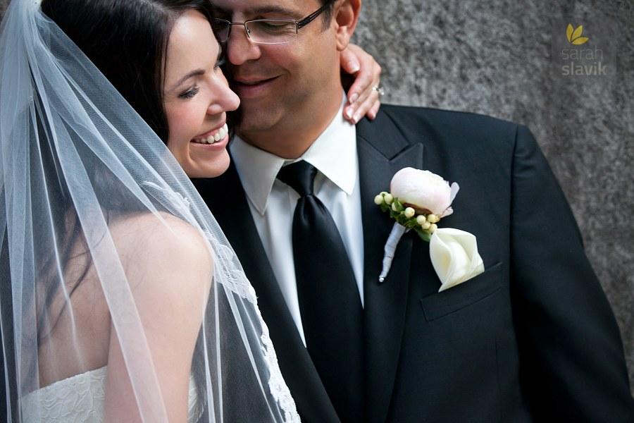 Closeup wedding portrait