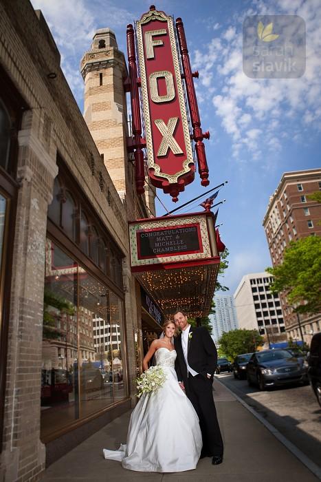 Fox Theatre Wedding Photo
