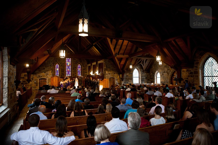 Frost Chapel wedding ceremony