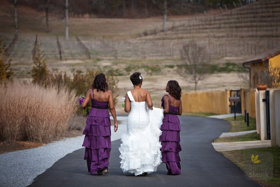 Montaluce Winery bridesmaids