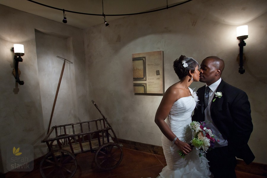 Montaluce Winery wedding portrait