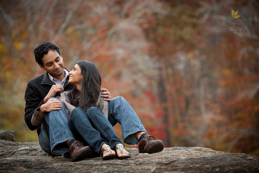 Outdoor engagement portrait