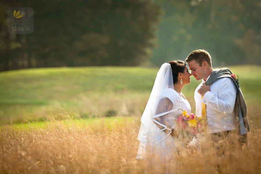 Summer wedding portrait