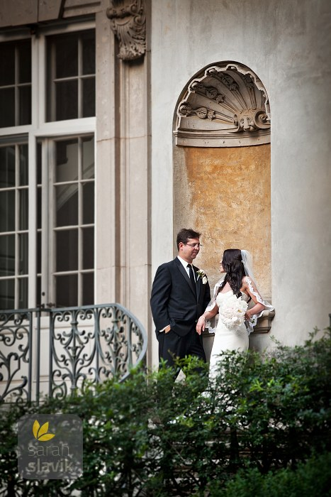 Swan House wedding portrait