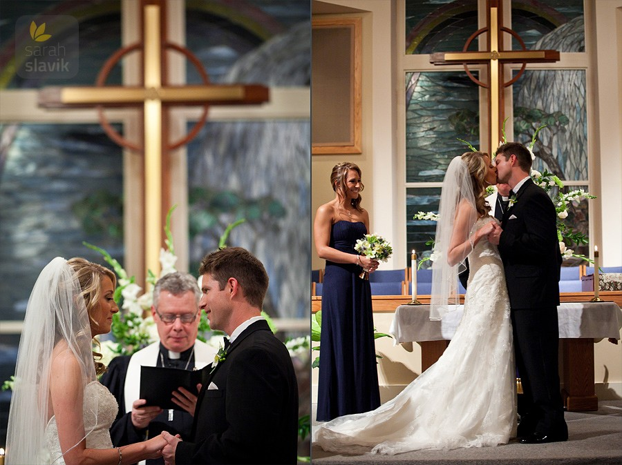 Vows and first kiss
