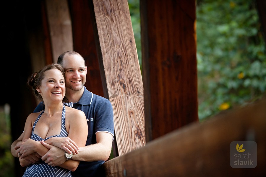 Covered bridge portrait