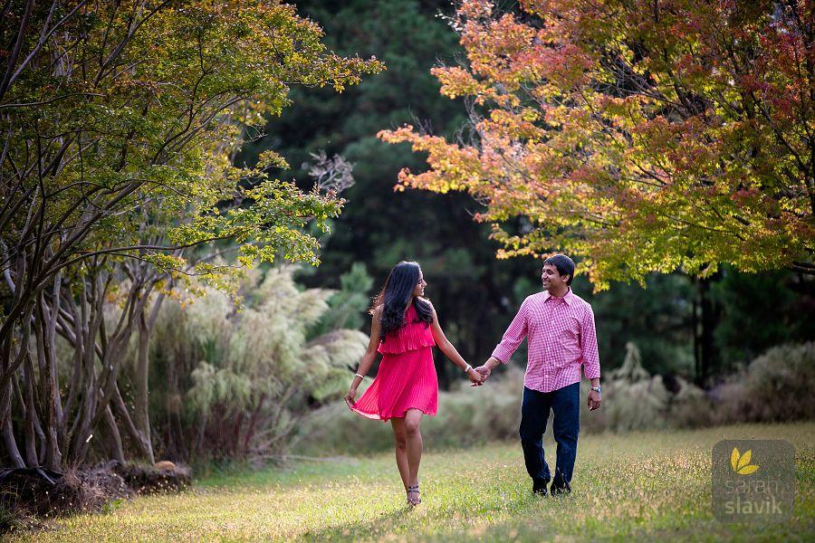 Fall engagement portraits