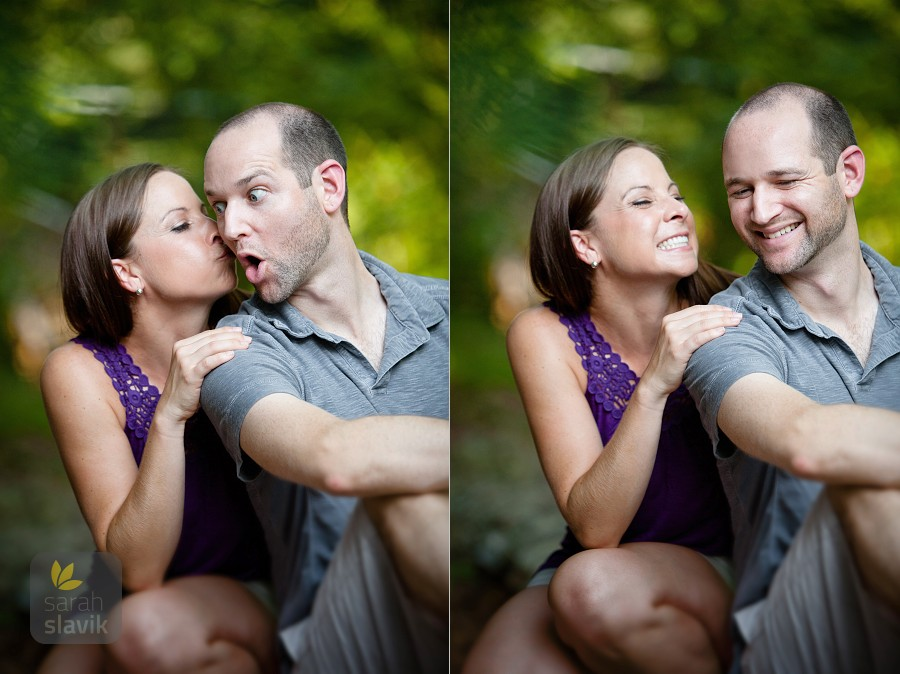 Fun engagement photo