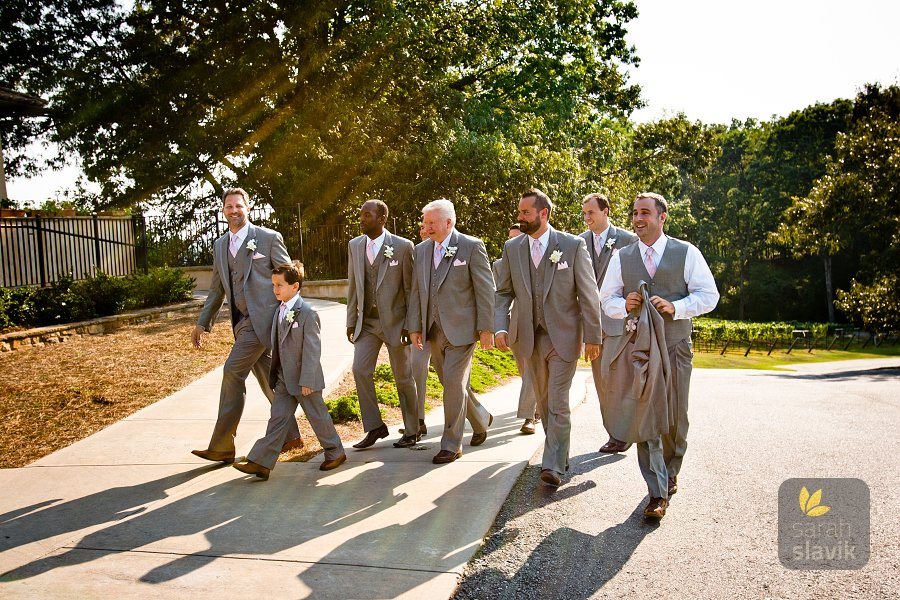 Groomsmen vineyard