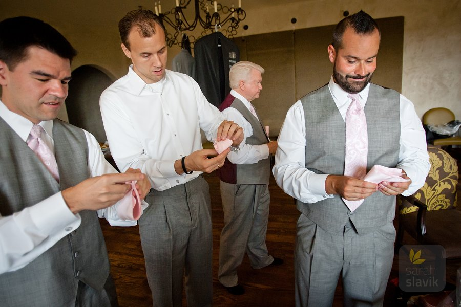 Groomsmen with hankies