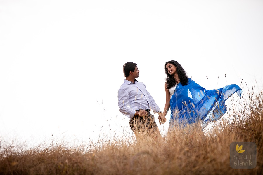 Indian engagement portrait