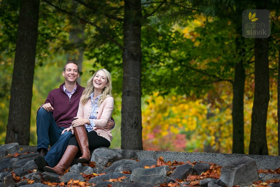 Fall Engagement Portrait